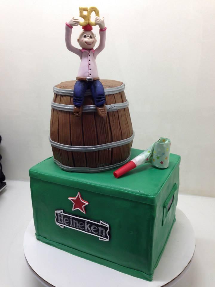 Heineken taart Fondanti